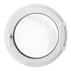 FENÊTRE - BAIE VITRÉE Fenêtre ronde à la française gauche 70 cm Blanche