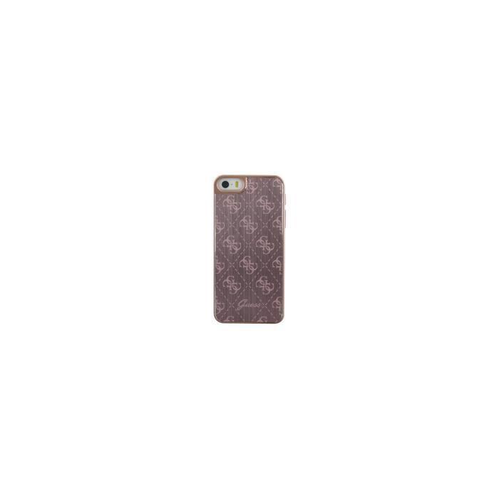 GUESS Coque en aluminium - Pour iPhone 5S / SE - Rose