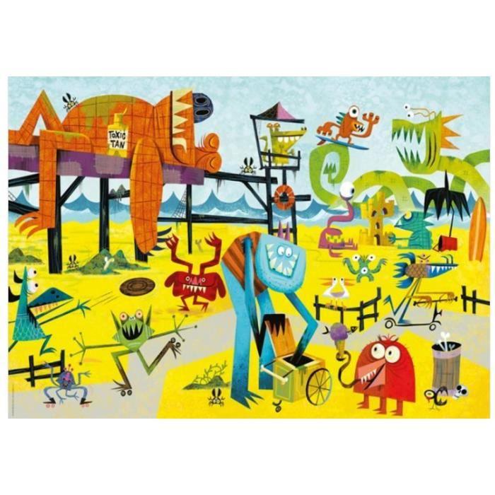 MERCIER Puzzle 1000 pièces Monster Beach Michael Slack - 50 x 70 cm