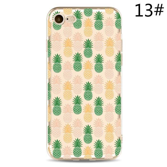 WISH,HXY3B_iPhone7,13 Mode Peinture Pineapple Téléphone cas simple  personnalité mignon mobile Coque de protection Accessoires de