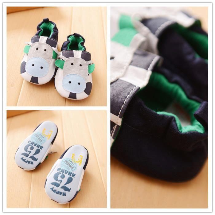 Chaussures premiers pas Bébé en coton doux Vache 18-24 mois