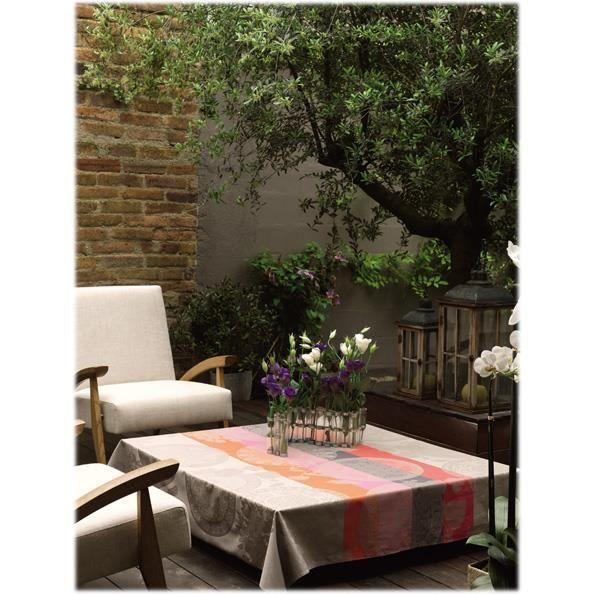 nappe rectangulaire fleurs achat vente pas cher. Black Bedroom Furniture Sets. Home Design Ideas