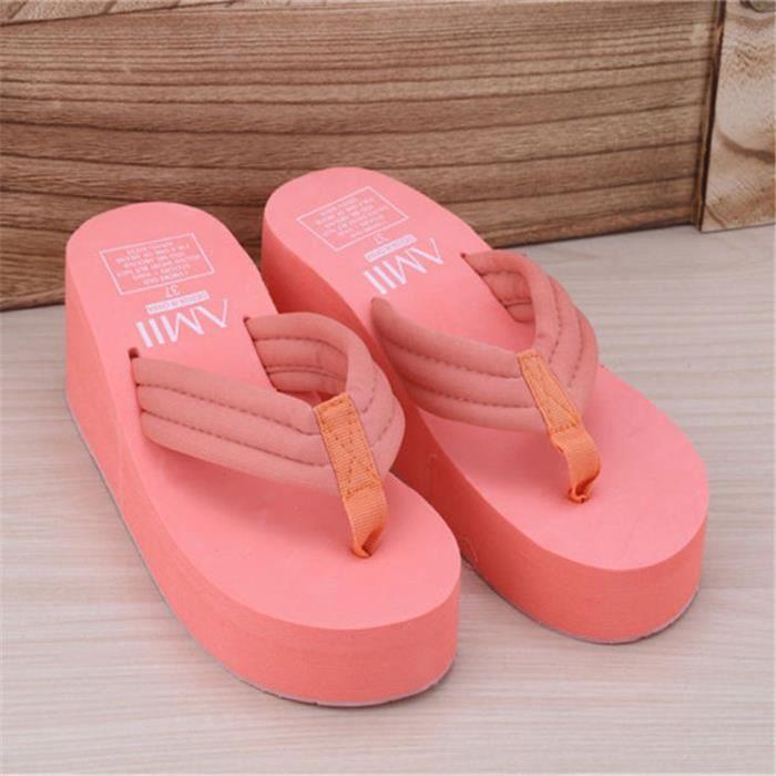 Napoulen®Mode sandales nue peu profonde bouche élégante talons hauts pour femmes Rose-XPP71221532PK ygDR5x6