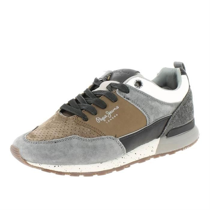 ad076f32afb Baskets boston 2.0 homme pepe jeans pms30382 Gris Gris - Achat ...