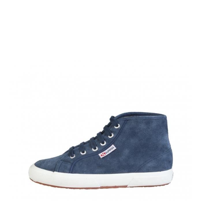Superga - Chaussures en cuir couleur noir XrnZqlVhG