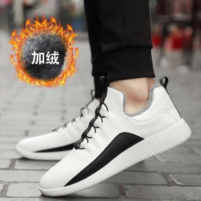 Chaussures Hommes Cuir Printemps Ete Haute Qualité Plat Chaussures TYS-XZ080Noir42 sVmCd