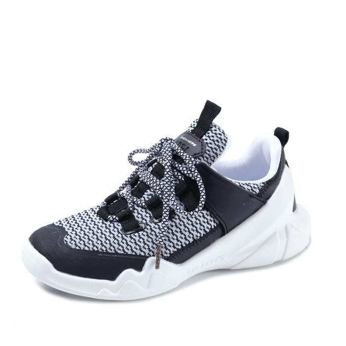 Blanc Baskets Mode Fille New Femme De Sport Sneaker Chaussures noir j34AR5L