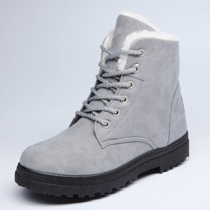 Pour D'hiver De love721 Femme Neige Beguinstore Chaussures Gris Bottes qTtgOwO