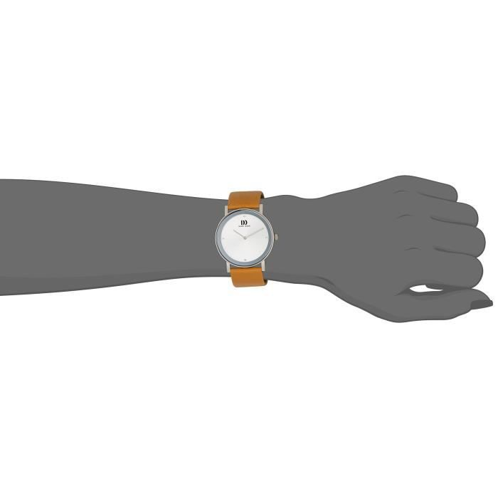 Danish Design féminin Quartz 3324575 avec bracelet en cuir 1UO6ZQ