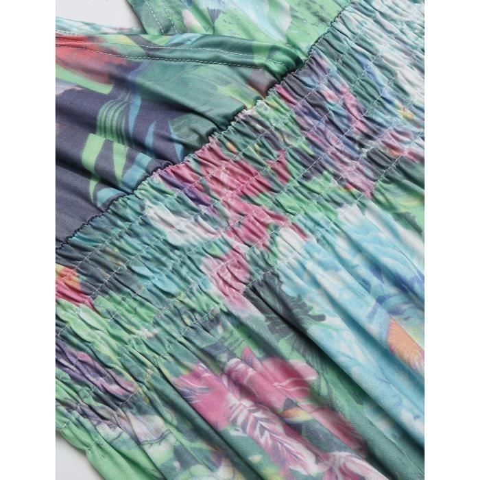 Robe décontractée de plongée Sans manches Boho Style Print
