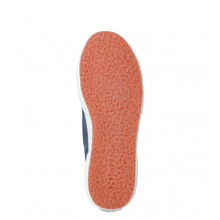 Superga - Chaussures en daim couleur bleu nuit