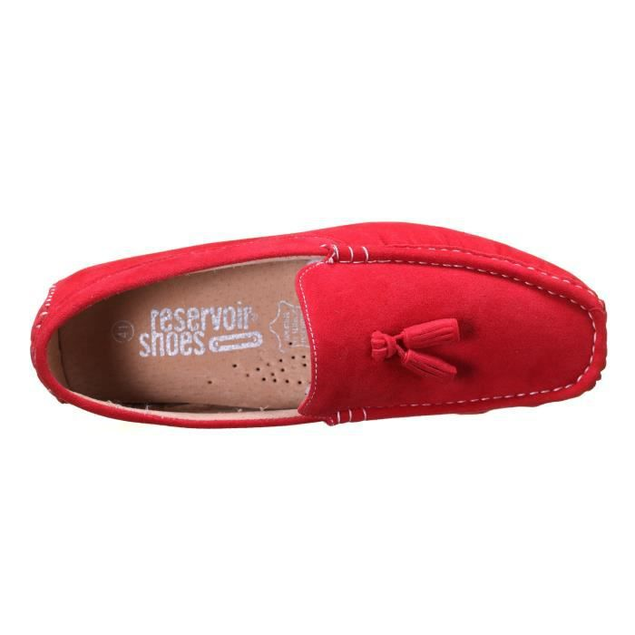 Chaussure Reservoir Shoes Walter Moccassin Rouge