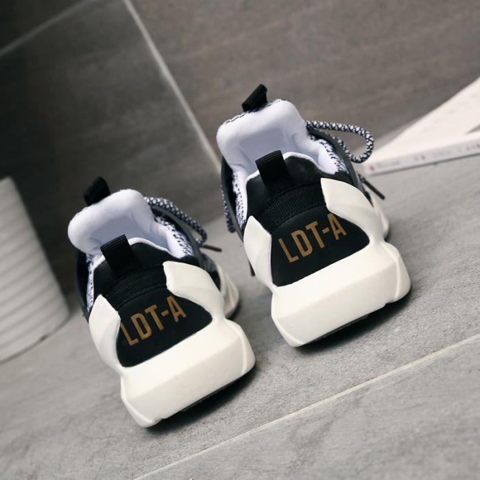 Sneaker Chaussures Sport Fille noir Femme De Blanc Mode Baskets New EXawIqEO