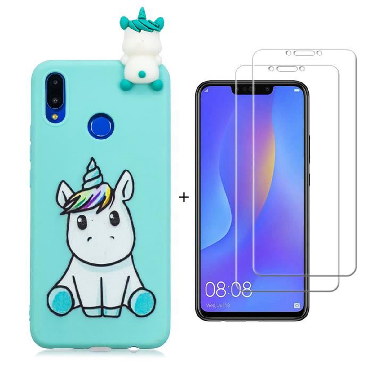 coque silicone huawei p smart plus