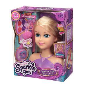 SPARKLE GIRLZ T?te ? coiffer avec accessoires