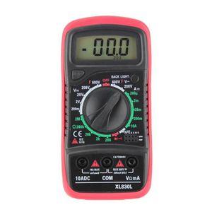MULTIMÈTRE XL-830L Multimètre numérique LCD portable 3 1-2 vo