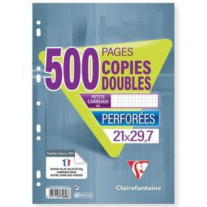FEUILLET MOBILE CLAIREFONTAINE Copies doubles perforées 500 pages