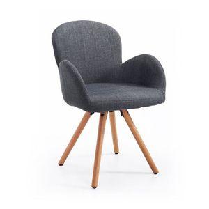 chaise chaise de visiteur design scandinave pieds inclin - Fauteuil Bureau Scandinave