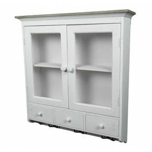 rangement haut vitre bois achat vente pas cher. Black Bedroom Furniture Sets. Home Design Ideas