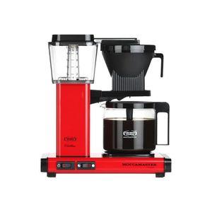 MACHINE À CAFÉ Moccamaster KBG 741 AO Cafetière 10 tasses Rouge m