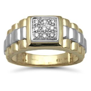 CHEVALIERE Jewelco London sans-conflit Hommes Solide Or Jaune