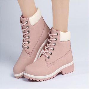 Botte MartinFemmes Qualité Supérieure Confortable Mode Ankle Boot Suede Leather Lace-Up Shoes Plus De Couleur ZX-xj057blanc-39 oNZaA
