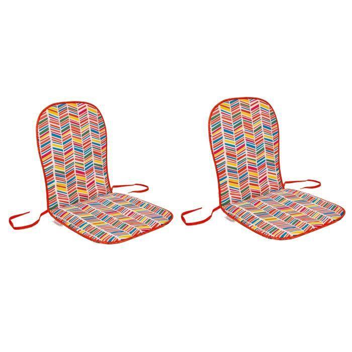 Dimensions : 80x40 cm - Coloris : multicolore - Enveloppe : 50% coton et 50% polyesterCOUSSIN D'EXTERIEUR - COUSSIN DE BAIN DE SOLEIL - COUSSIN DE CHAISE DE JARDIN