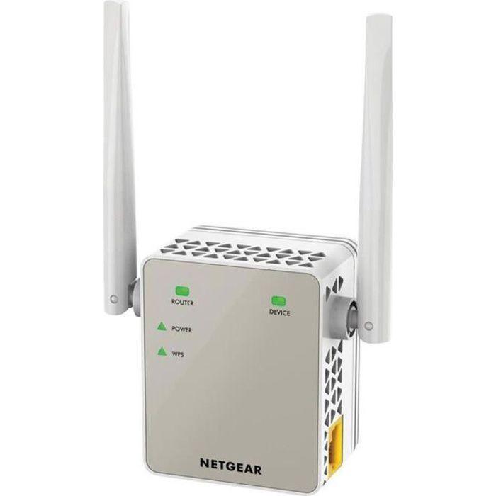 POINT D'ACCÈS NETGEAR Répéteur Wifi AC 1200 Mbps Double Bande EX