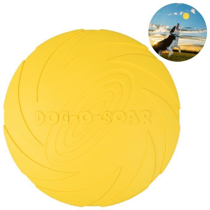 Dog Training Durable Fetch Frisbee Avec 8,7 « » De Diamètre, Convient Pour Chiens Et Chats, Jaune