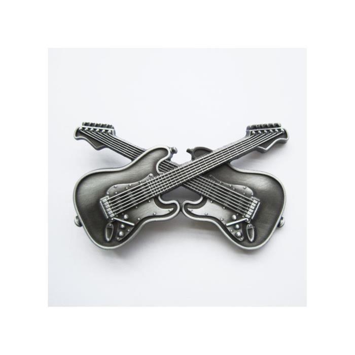 Boucle de ceinture 2 guitare croisé alu rock roll homme - Achat ... 09d59c0d050