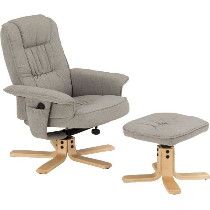 FAUTEUIL Fauteuil de relaxation CHARLY avec repose-pieds po