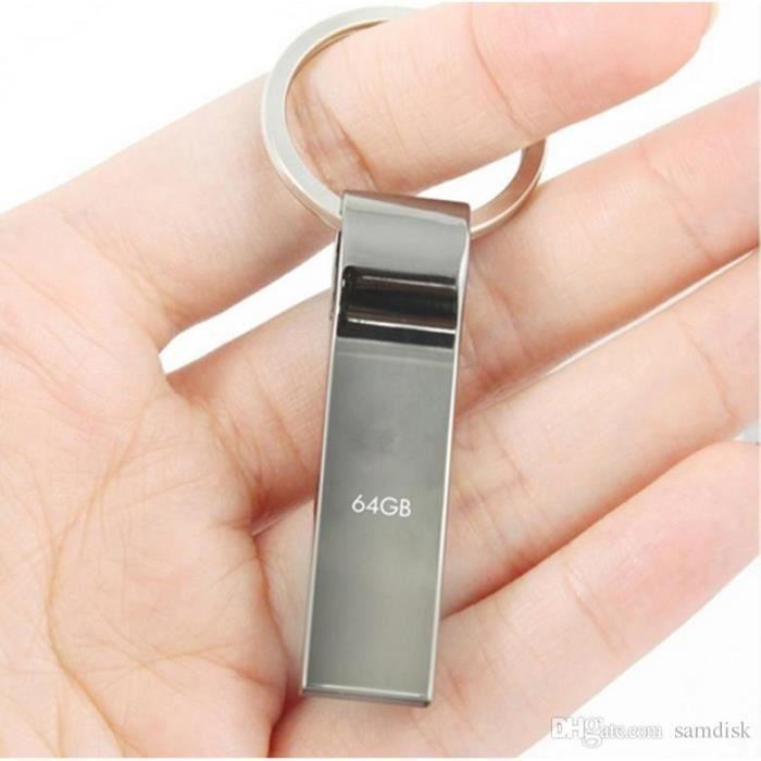 Clé USB Go Acier Inoxydable Et Porte Clé Prix Pas Cher - Porte clé usb