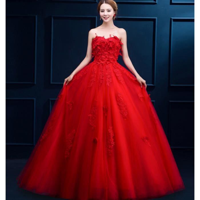 Robe rouge bustier femme