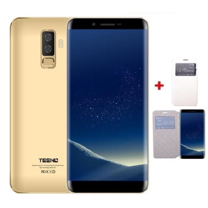 """SMARTPHONE TEENO 5.5"""" HD Smartphone 4G Débloqué Or Android 8."""
