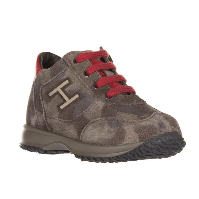 Chaussures baskets sneakers enfant camoscio interactive h flock Hogan