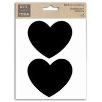 Étiquette classement 8 stickers ardoise - grands Coeurs