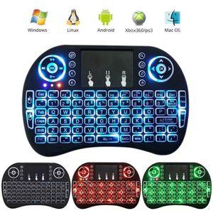 CLAVIER D'ORDINATEUR I8 Mini 2.4GHz clavier sans fil avec pavé tactile