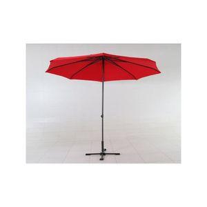 PARASOL Parasol Push Up Ø 300 cm - Rouge