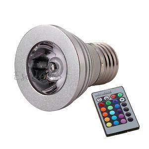 AMPOULE - LED E27 Ampoule Spot LED RGB 3W 230V Pr Maîson Restaur