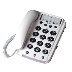 Téléphone fixe GEEMARC Téléphone grosses touches séniors bi-bloc