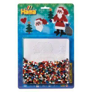 JEU DE PERLE Á REPASSER Kit de perles Hama midi : Père Noël