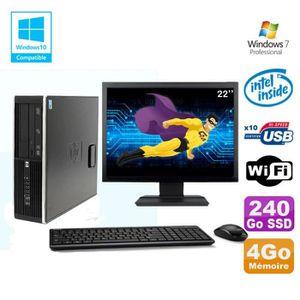 UNITÉ CENTRALE  Lot PC HP 8100 SFF G6950 2,8GHz 4Go 240Go SSD Wifi
