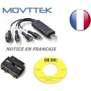 CÂBLE TV - VIDÉO - SON Movttek® Convertisseur VHS -> DVD à graver sorties
