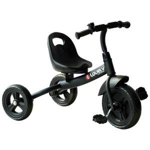 TRICYCLE HOMCOM Tricycle pour Enfant Poussette avec Roue de