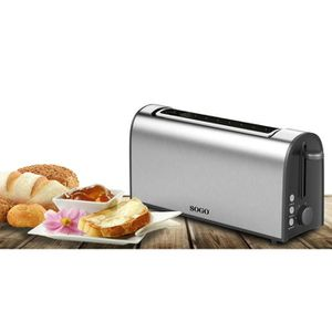 GRILLE-PAIN - TOASTER TOASTER EN ACIER- 4 TRANCHES-1000W