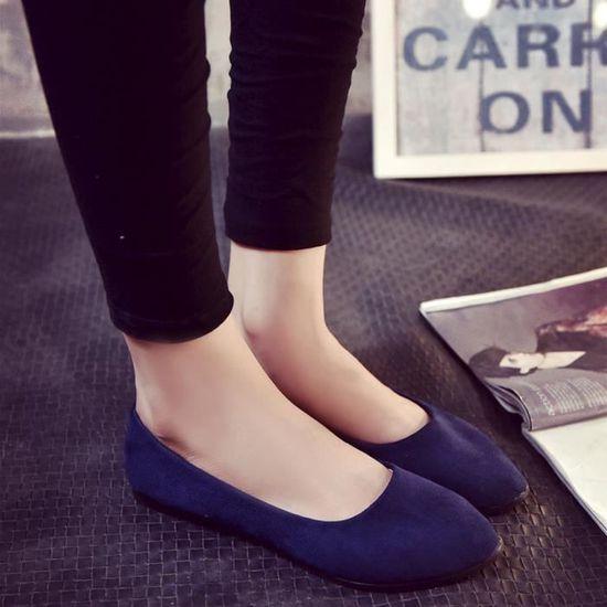 Chaussures@ Femmes occasionnelles OL chaussure plate Bleu foncé + 36  Bleu foncé - Achat / Vente slip-on