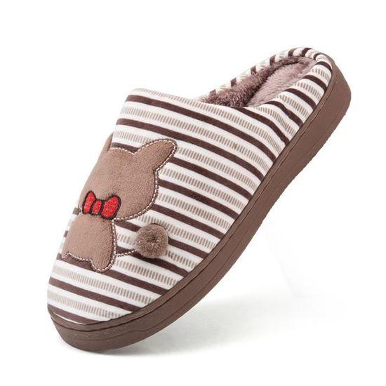 Coton Classique Pantoufle Confortable Meilleure Chauds Qualité Hiver Ultra Pantoufles Homme Femme vmNwOy80n
