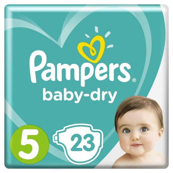 COUCHE Pampers Baby-Dry Taille 5 11-23 kg - 23 Couches