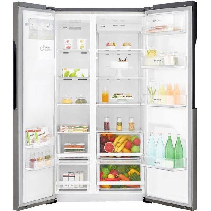 LG GSL360ICEV - Réfrigerateur américain - 591L (394L + 197L) - Total No Frost - A+ - L91,2cm x H179cm - Graphite