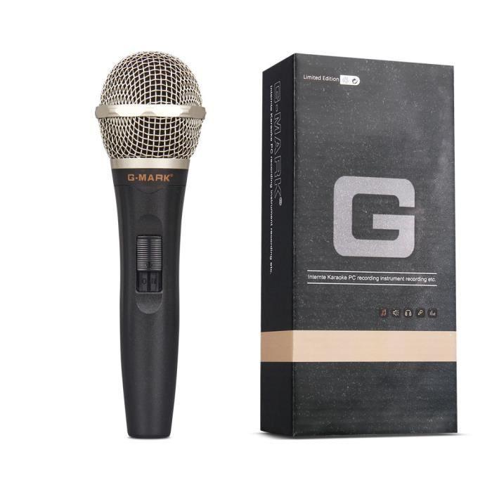 G-mark G77 Microphone Filaire Dynamique Professionnel Super Cardioïde Vocal À Main